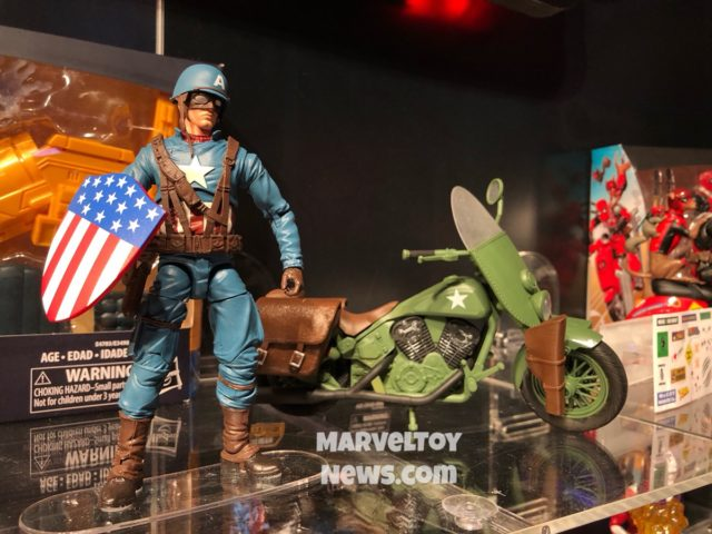 Toy Fair 2019 Hasbro Marvel Legends Captain America & Motorcycle