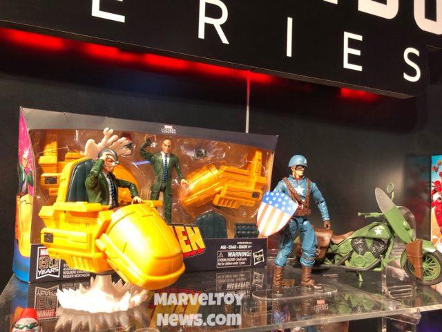 2019 Toy Fair Marvel Legends Riders Professor X Captain America Figures