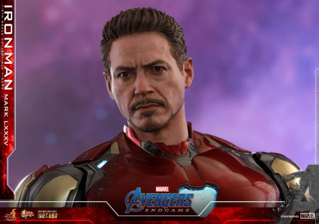 Avengers Endgame Hot Toys Tony Stark Head Robert Downey Jr Portrait