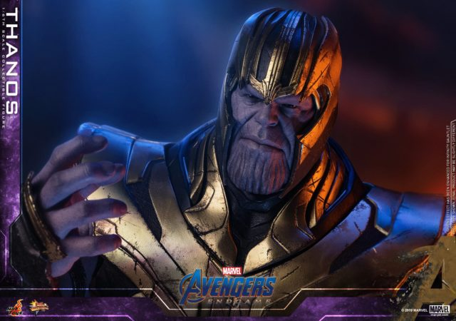 Close-Up of Avengers Endgame Hot Toys Thanos MMS Figure