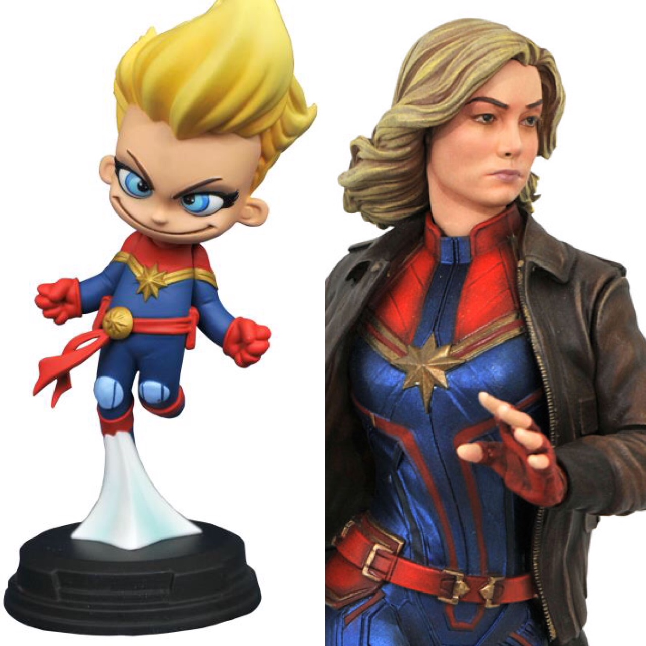 Marvel Animated Captain Marvel & Premier Collection Statues!