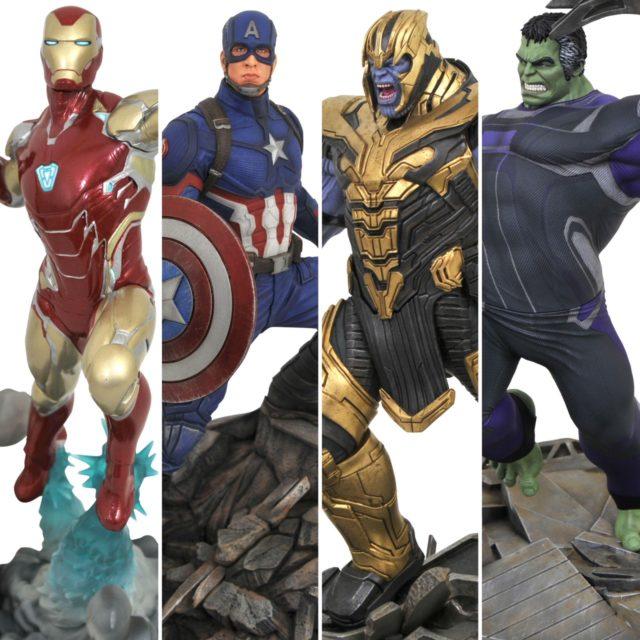 Diamond Select Toys Avengers Endgame Statues Thanos Iron Man Captain America Hulk