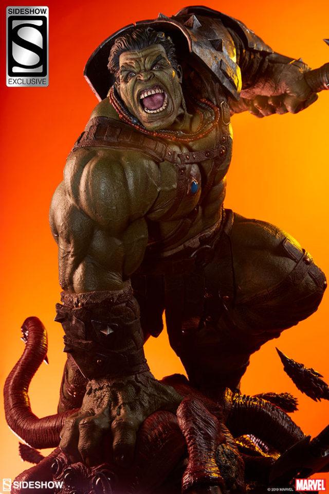 Gladiator Hulk Exclusive Helmetless Head Sideshow Collectibles