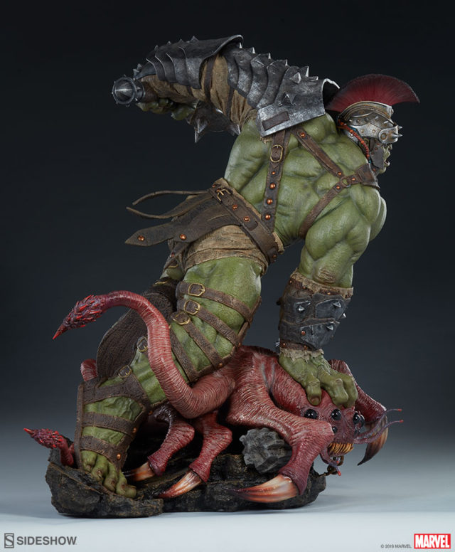 Gladiator Hulk Sideshow Maquette Statue Back View