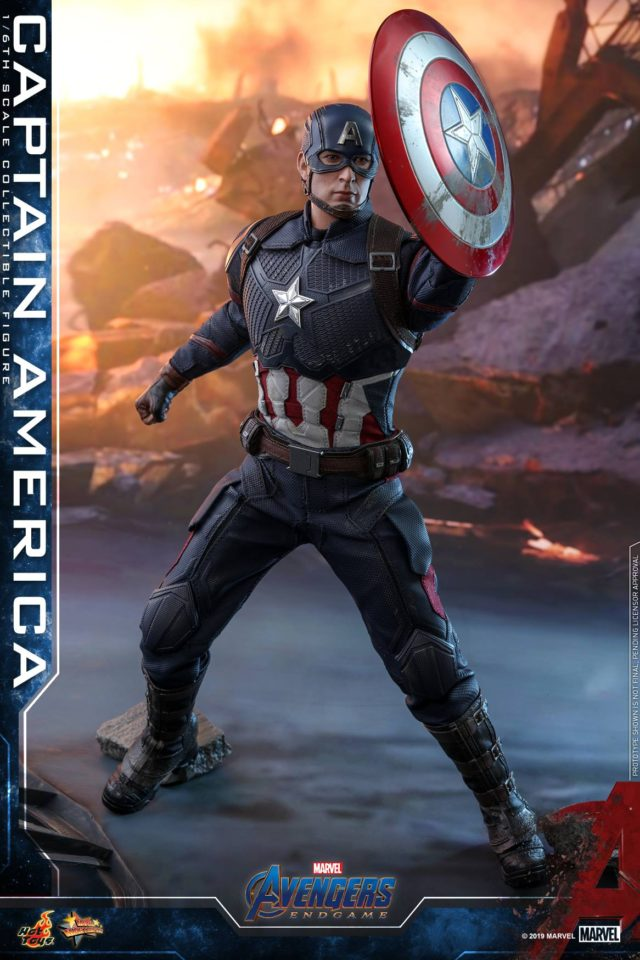 Hot Toys Avengers 4 Captain America Holding Up Shield