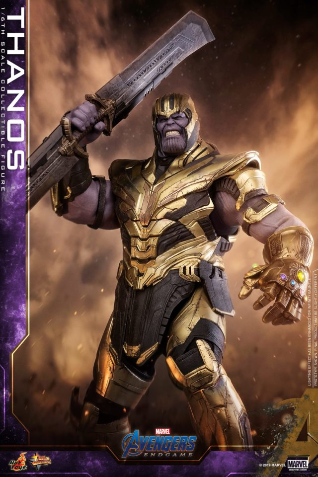 Hot Toys Avengers 4 Thanos with Double Sided Sword Figure