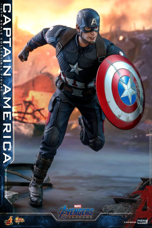Hot Toys Avengers Endgame Captain America Sixth Scale Figure MMS with Shield
