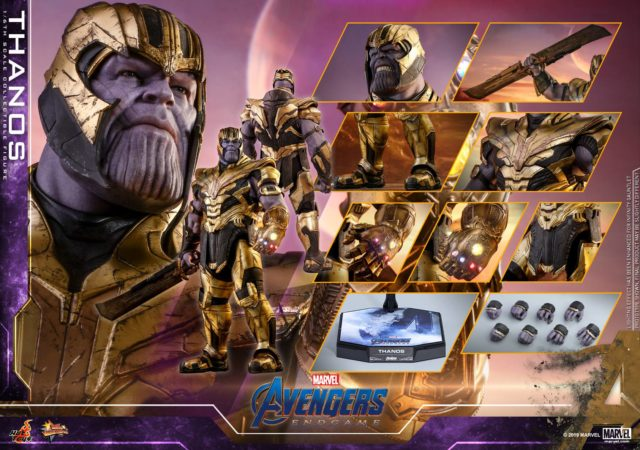 Hot Toys Endgame Armored Thanos Figure and Accessories