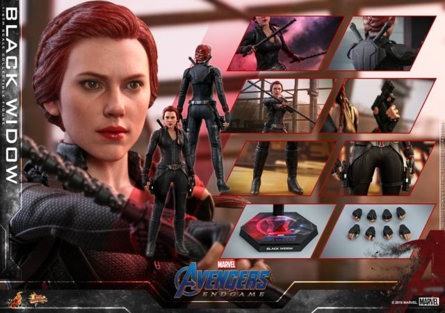 Hot Toys Endgame Black Widow Figure and Accessories