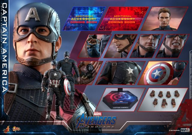 Hot Toys Endgame Captain America Figure and Accessories