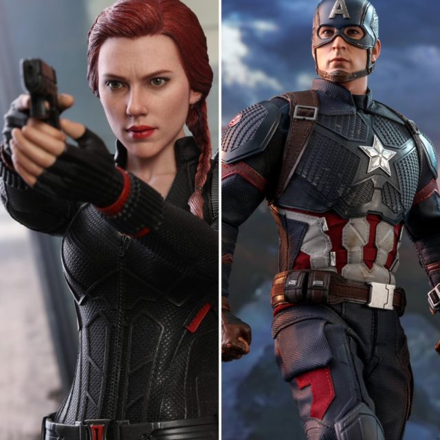 Hot Toys Endgame Captain America and Black Widow Figures
