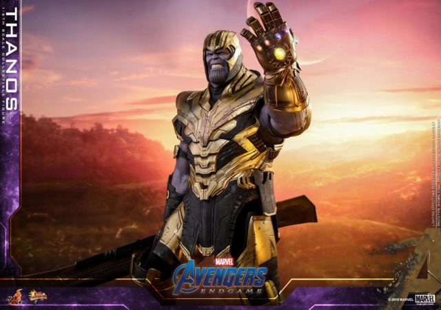 Hot Toys Endgame Thanos Figure with LED Infinity Gauntlet