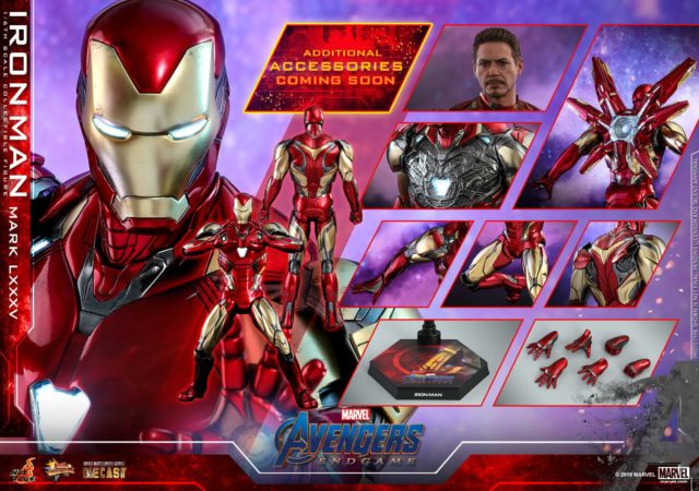 Hot Toys Iron Man Mark LXXXV Figure and Accessories