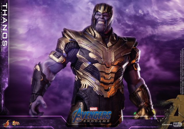 Hot Toys Thanos in Armor Avengers Endgame Figure Angry Head