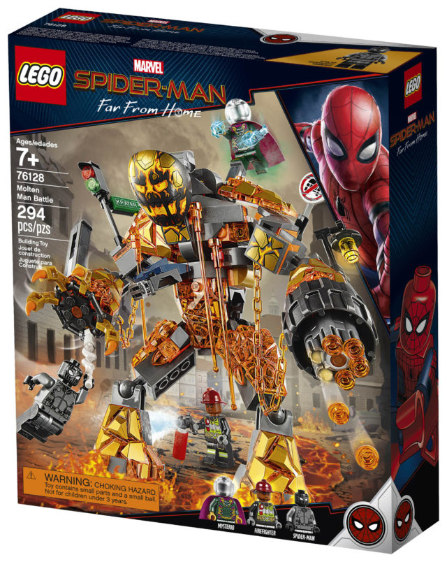 LEGO 76128 Molten Man Battle Box Front Spider-Man Far From Home