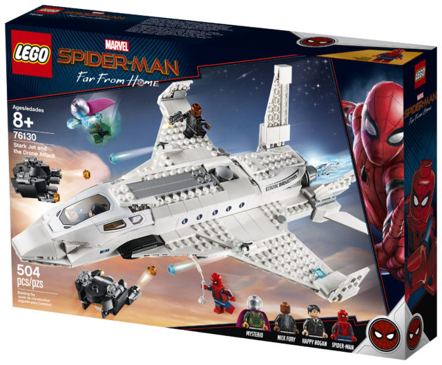 LEGO Stark Jet and the Drone Attack 76130 Set Box