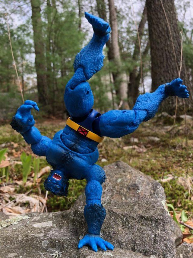 Marvel Legends Beast Figure On One Hand Stand