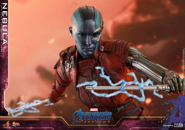 Nebula Hot Toys Endgame Figure with Electric Effects Piece Batons