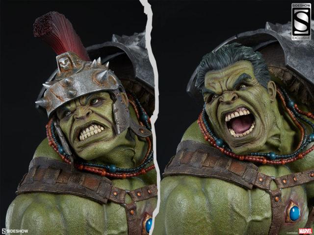 Sideshow Exclusive Gladiator Hulk Head without Helmet
