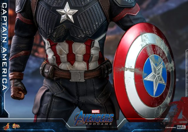 Weathered Shield with Avengers Endgame Captain America Hot Toys Sixth Scale Figure