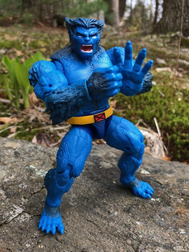 X-Men Legends Beast Action Figure Punching