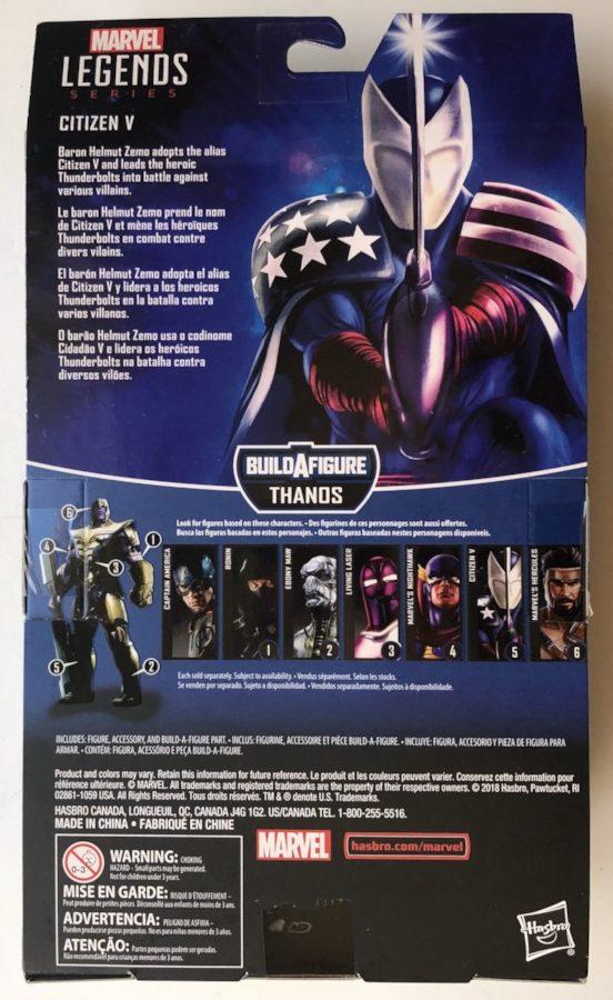 Box Back Avengers Legends Citizen V Figure