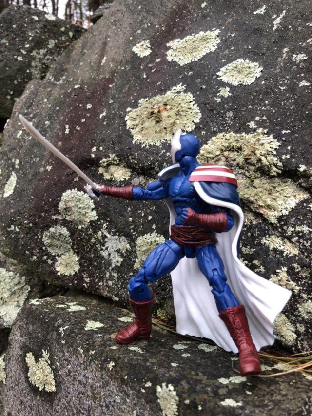 Side View of Avengers Endgame Marvel Legends Citizen V Action Figure Thunderbolts