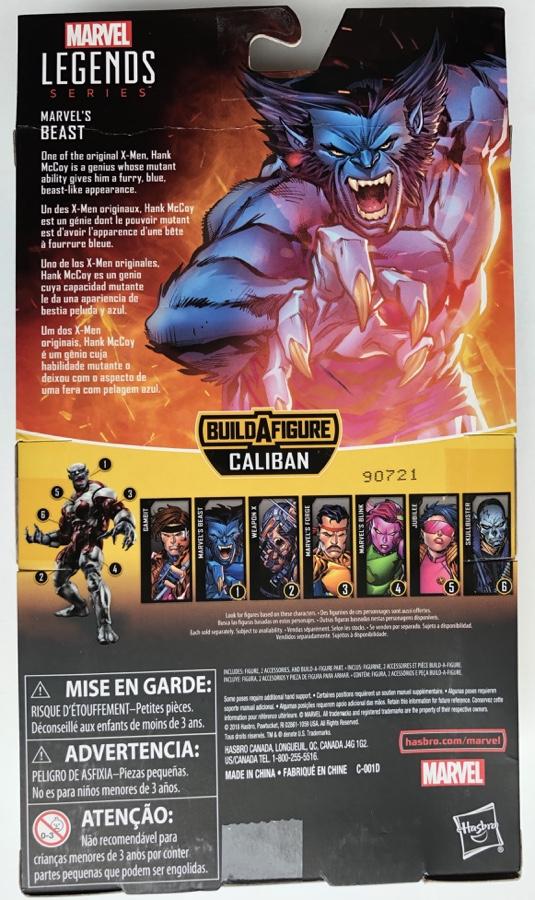 Back of Box Marvel Legends X-Men Beast Figure