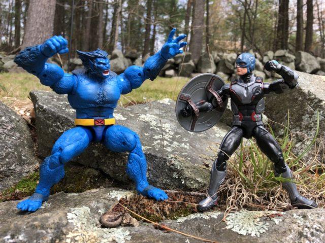 Marvel Legends Beast vs Endgame Captain America Figures