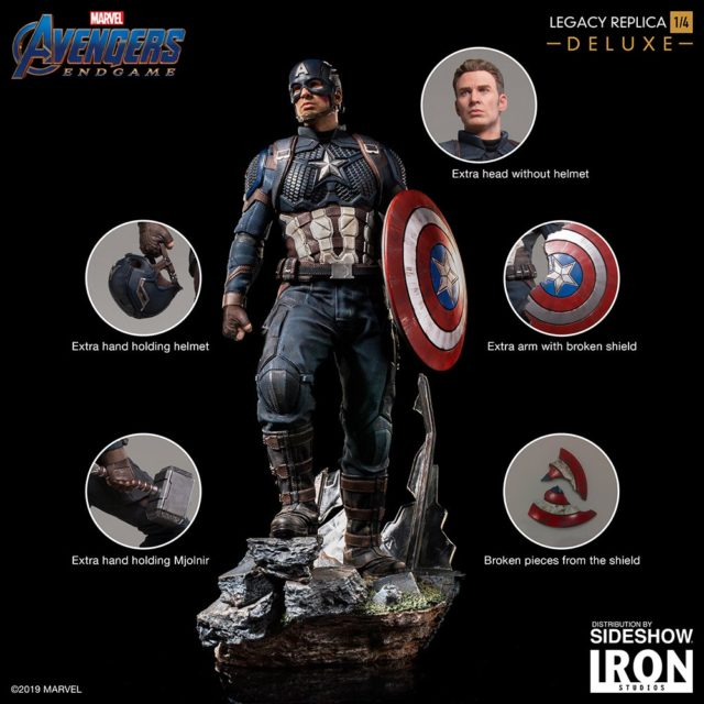 Accessories for Iron Studios Deluxe Legacy Replicas Captain America Statue