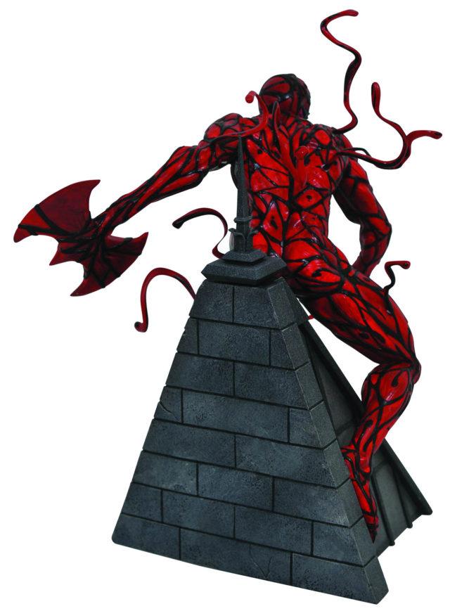Back of Marvel Premier Collection Carnage Statue