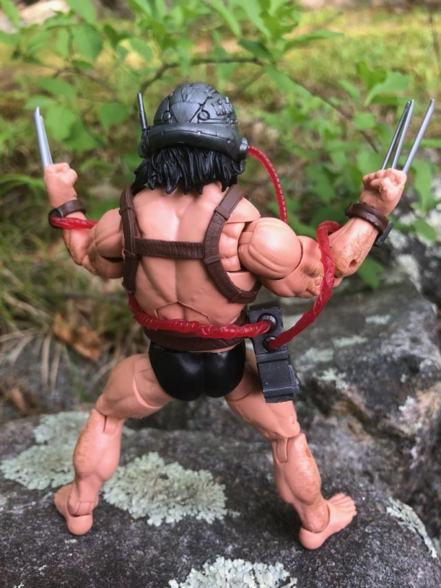 Back of X-Men Marvel Legends Weapon X Action Figure