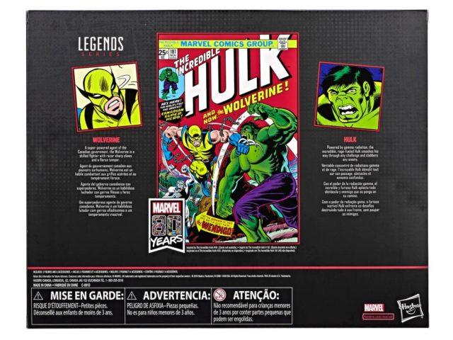 Box Back Marvel Legends 80th Anniversary Hulk and Wolverine Box Set