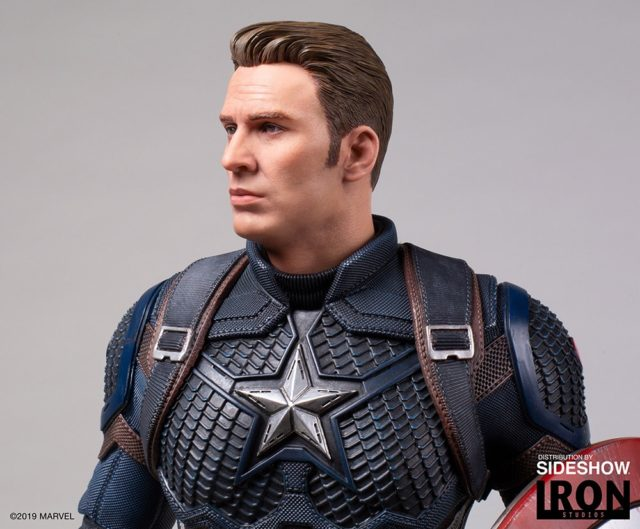 Close-Up of Legacy Replicas Deluxe Captain America Statue