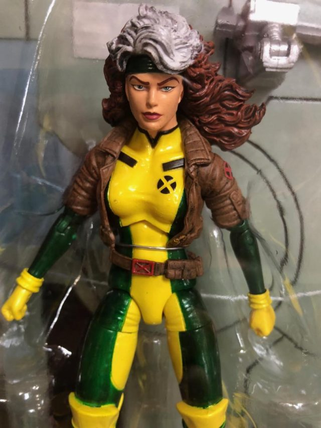 Close-Up of Marvel Select Rogue Figure Packaged