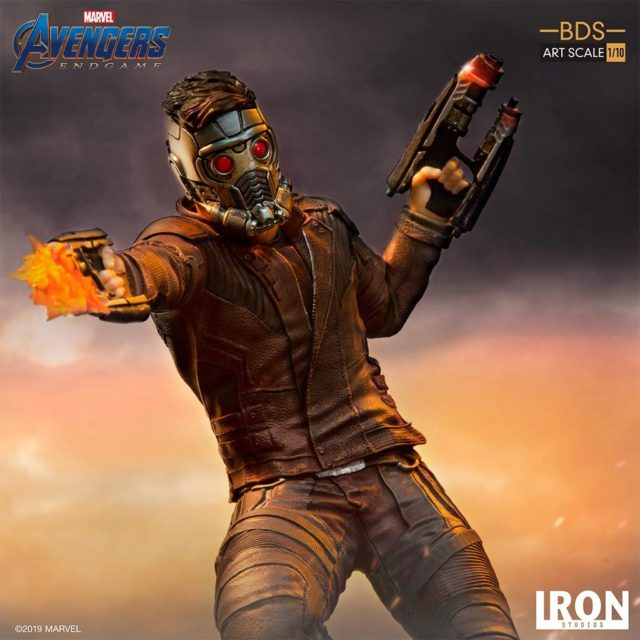 Close-Up of Star-Lord Iron Studios Avengers Endgame Statue