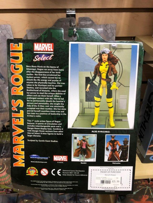 Diamond Select Toys Rogue Select 7 Inch Figure Box Back