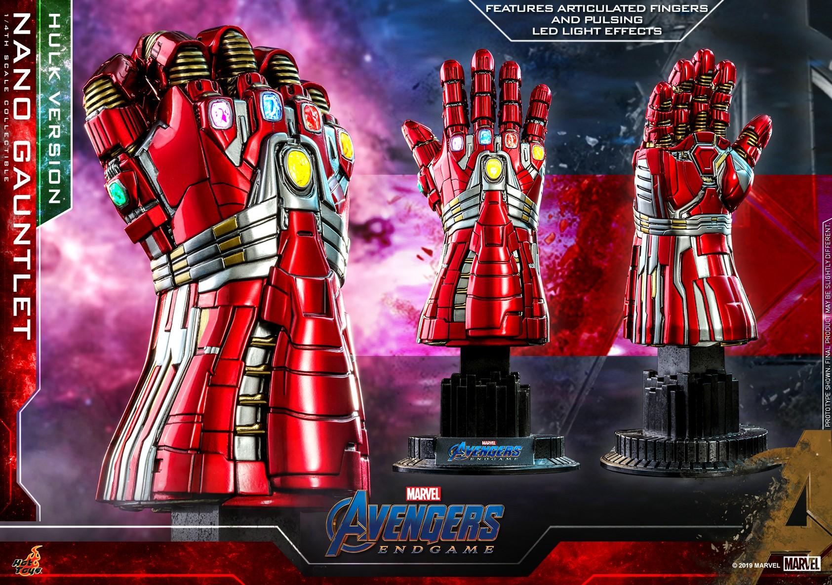"Hot Toys ACS008 1//4 Avengers Endgame Iron Man Nano Infinity Gauntlet 7.5/"" Figure"