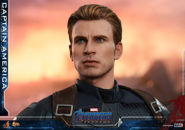Improved Chris Evans Likeness Hot Toys Avengers Endgame Captain America Figure