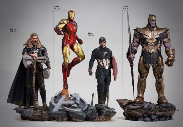 Iron Studios Avengers Endgame Legacy Replicas Statues Thor Iron Man Captain America Thanos