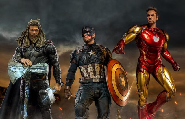 Legacy Replicas Avengers Endgame Thor Captain America Iron Man Statues