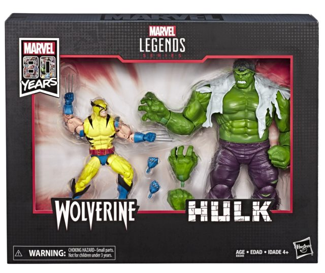 Marvel Legends 80 Years First Appearance Wolverine and Hulk Two Pack Packaged