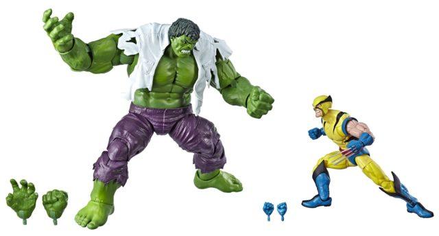 Marvel Legends 80th Anniversary Hulk vs Wolverine Figures