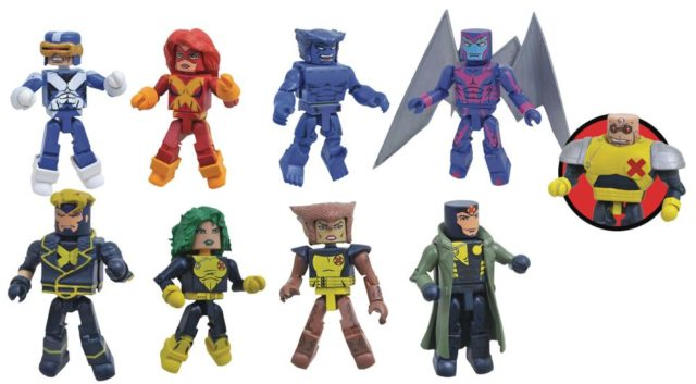 Marvel Minimates Wave 78 X-Factor Figures with Strong Guy Build-A-Figure