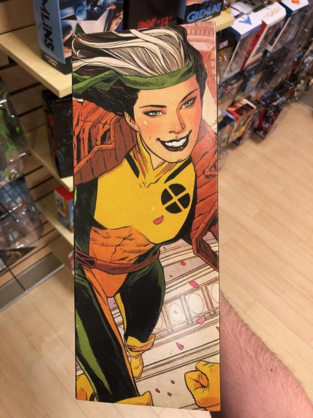 Marvel Select Rogue Box Side Flap Artwork