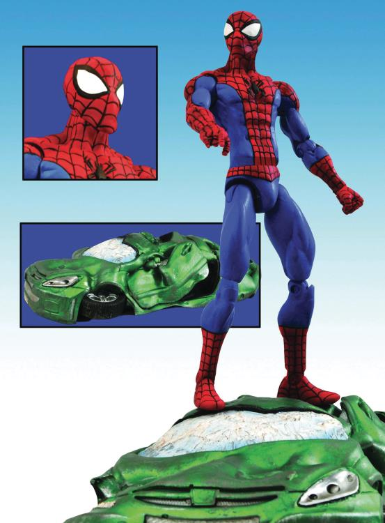 Marvel Select Spider-Man Figure with Crushed Car