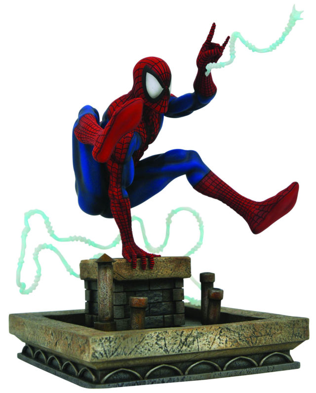 Side View of Marvel Gallery McFarlane Spider-Man PVC Statue