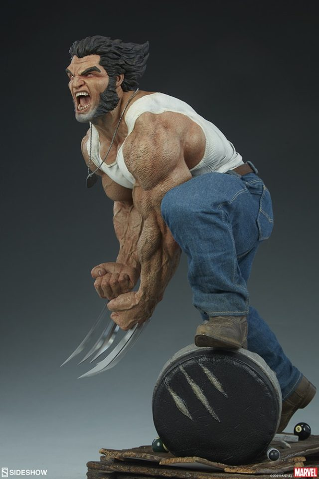 Sideshow Collectibles Logan Statue on Bar Stool