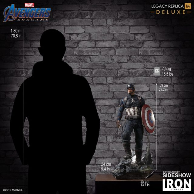 Size Scale Photo of Avengers Endgame Captain America Quarter Scale Statue