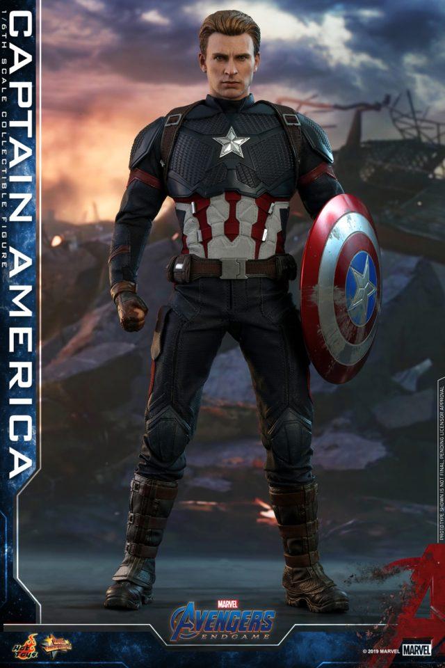 Unmasked Captain America Endgame Hot Toys Figure New Chris Evans Likeness